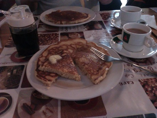 Cafe Odeon :                   Pancake with Maple Syrup, Butter and Lemon
