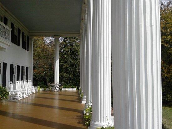 Rosemont Manor:                   Grand columns on portico