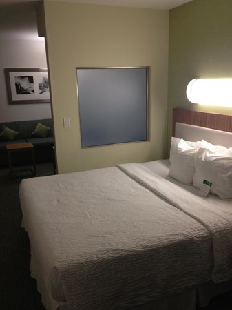 SpringHill Suites St. Louis Airport Earth City:                   Bedroom area