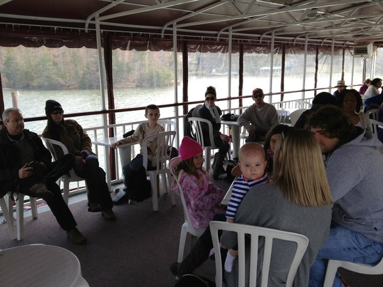 Queens Landing :                   On board the Riverboat replica
