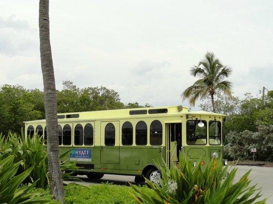 Hyatt Regency Coconut Point Resort and Spa:                   Shuttlebus zum Bootsanleger