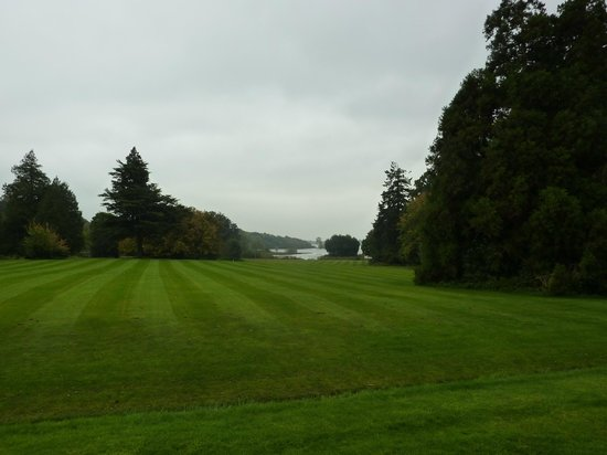 Lough Rynn Castle Estate & Gardens:                   View of lake from hotel garden