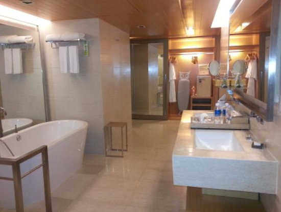 Pathumwan Princess Hotel:                   inside the bathroom area...so spacious...with closet and a personal safety box