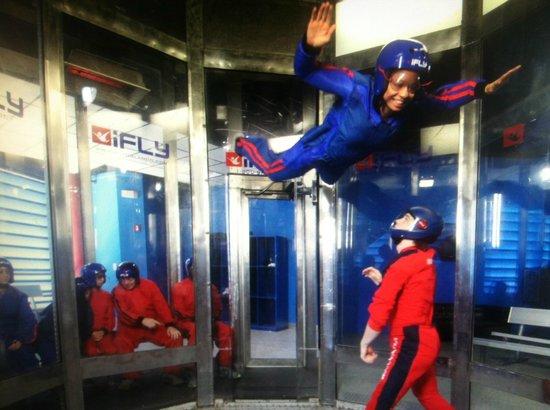 iFLY Indoor Skydiving - Orlando :                   My turn.