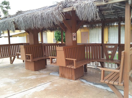 Quality Inn Suites On The Beach Cabanas In Pool Area
