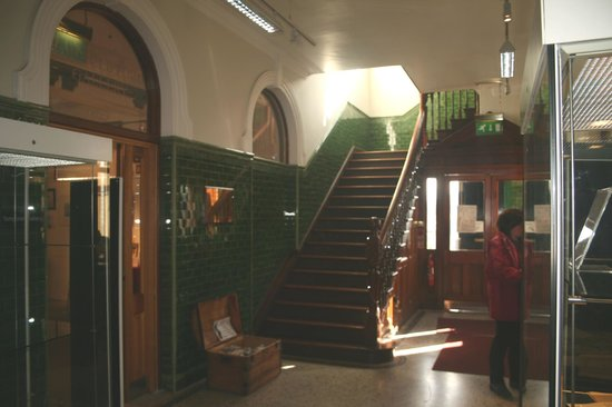 Larne Museum & Arts Centre: The entrance hall of the museum.