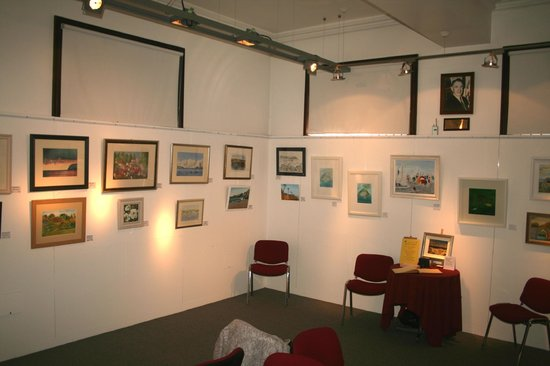 Larne Museum & Arts Centre: One corner of the downstairs exhibition room.