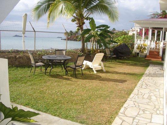 Grand Anse Beach Palace Hotel: part of the yard