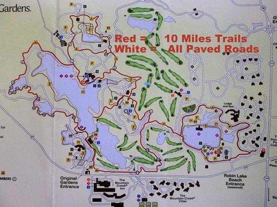 Callaway Gardens Georgia Map.Map Of Trails Picture Of Callaway Gardens Pine Mountain Tripadvisor