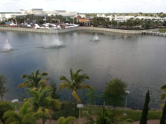 Hilton Garden Inn Palm Beach Gardens:                   View across the pond from 5th floor room
