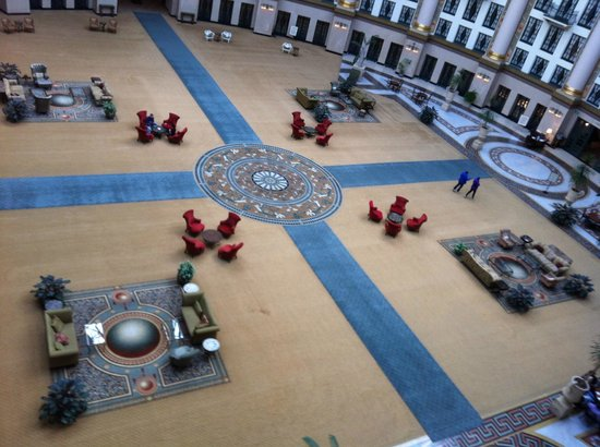 West Baden Springs Hotel:                   Internal view from our balcony into the rotunda.