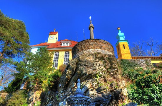 Portmeirion Village: high on the rocks