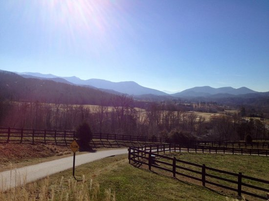 Brasstown Valley Resort & Spa:                   View from Brasstown Valley Resort Entrance