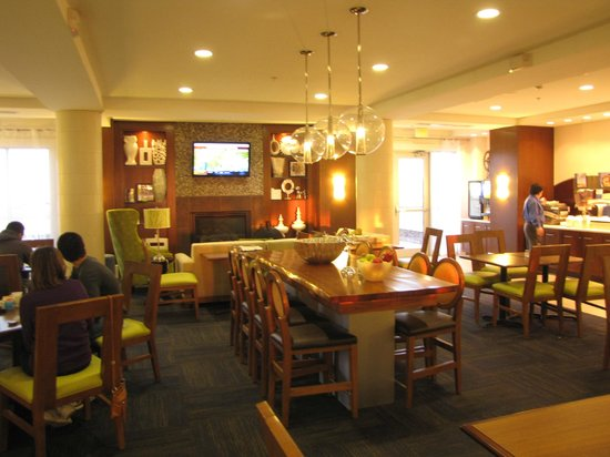breakfast area picture of holiday inn express suites. Black Bedroom Furniture Sets. Home Design Ideas