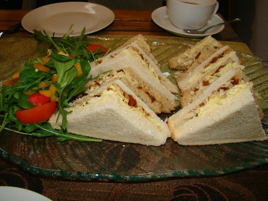 Bizzi Beans Cafe:                   Our sandwiches which were delicious.