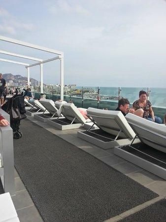 Villa Del Mar Hotel:                   Roof top terrace with bar.
