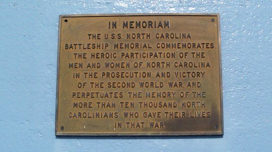 Battleship NORTH CAROLINA: In Memoriam