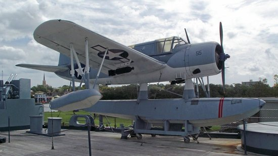 Battleship NORTH CAROLINA: Kingfisher airplane