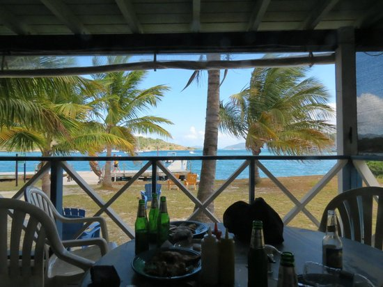 Foxy's Taboo Bar & Restaurant:                                     view from the bar