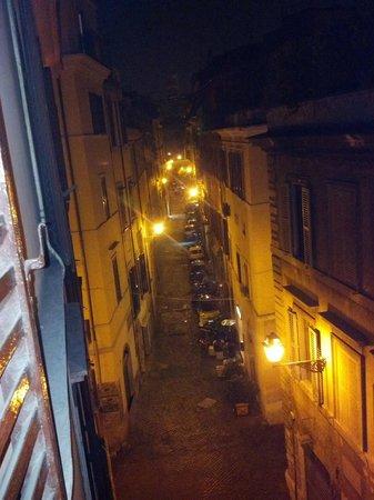 San Daniele Bundi House :                   Night street view from our room window.