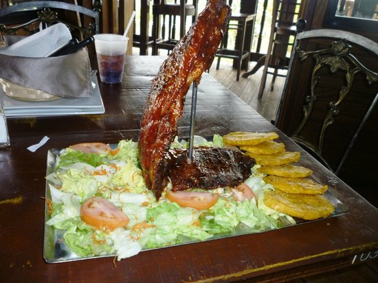 San Sebastian, Puerto Rico:                   Two pounds of BBQ Ribs, mmmm delicious!                 