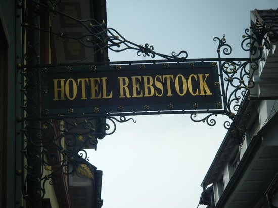 Hotel Rebstock Laufenburg:                   sign