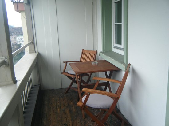 Hotel Rebstock Laufenburg:                   balcony of room 22