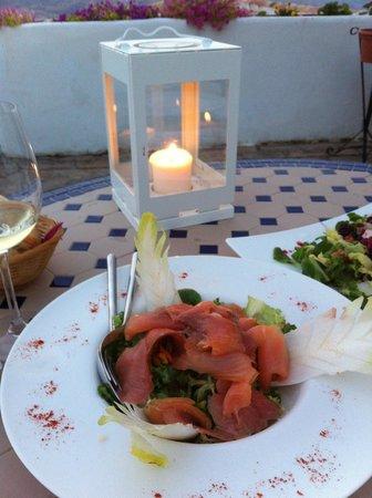 Hotel La Fuente del Sol: Cena a la luz de las velas