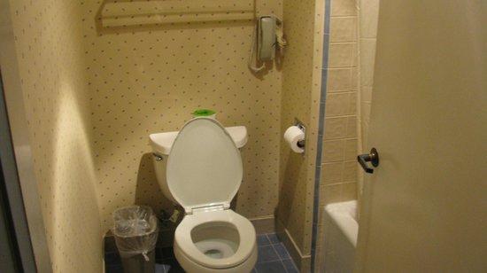 Clarion Inn Silicon Valley: teeny bath area