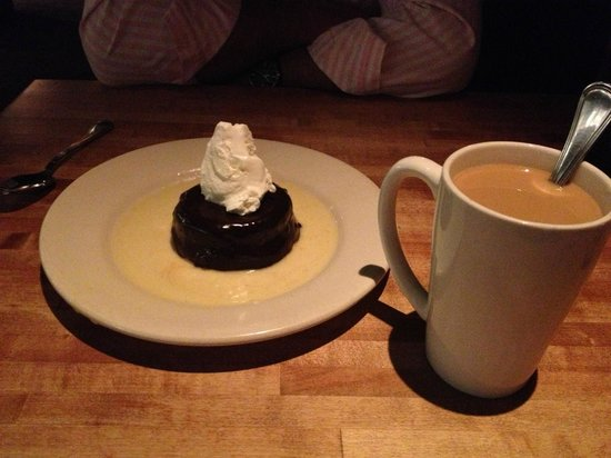 The White Chocolate Grill - Park Meadows: Chocolate Soufflé & Coffee (GF dessert!!)