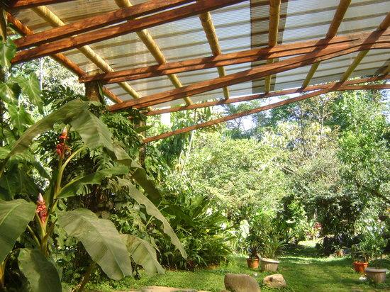 Hotel Cascata Del Bosco: Covered Garden Area