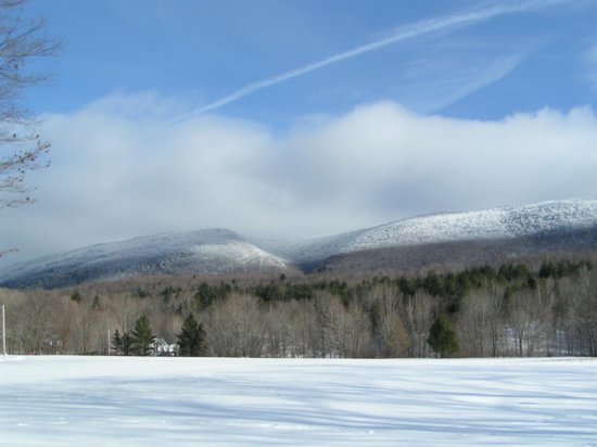 Aerie Inn of Vermont: View out the front in the snow