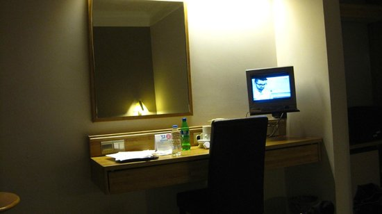 Park Hotel:                   small tv in the room