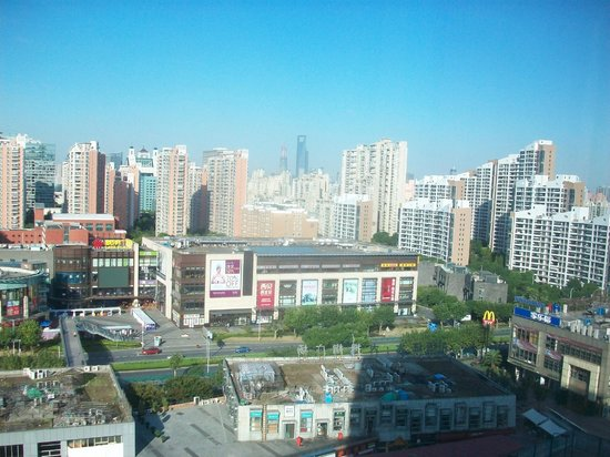 Grand Mercure Shanghai Century Park :                   nghai skyline from room at Radisson Blu Century Park.
