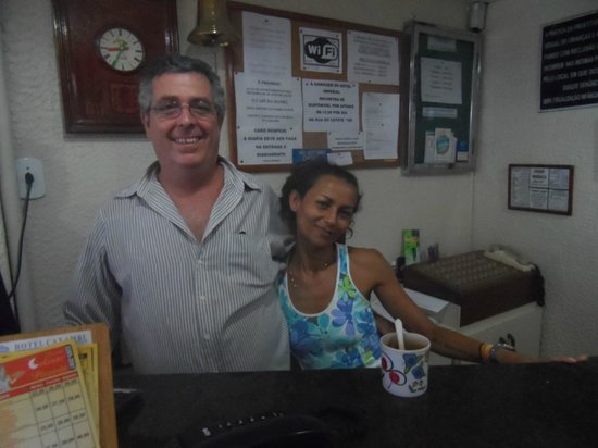 Hotel Caxambu:                   Front Desk Clerk Manuel and girl in charge of the breakfast room