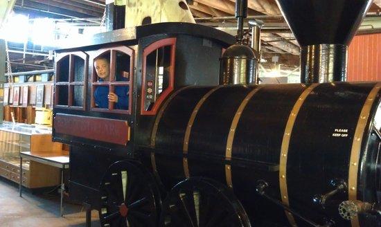 Jackson Street Roundhouse:                   driving the train simulator