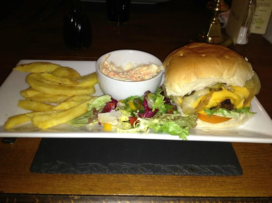 The Crown Country Inn:                   Best tasting burger I've had in years.