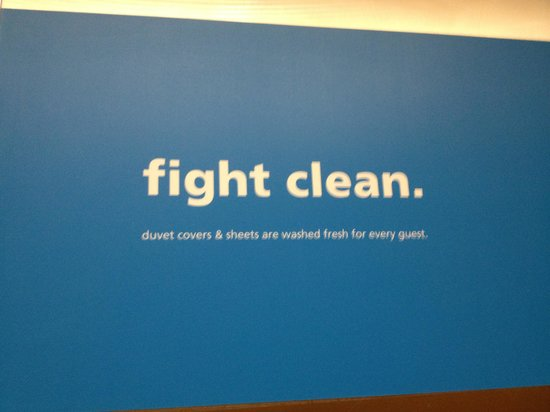 "Hampton Inn Bloomington:                   Don't quite get why you would NEED to point out ""clean sheets"" in an ad campai"