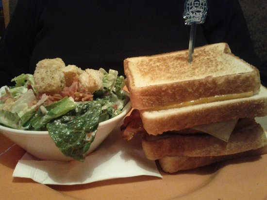 Crabby Joe's Tap & Grill: Monster Melt with Ceasar Salad
