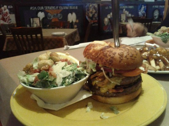 Crabby Joe's Tap & Grill : Bucket List Burger with Ceasar. Definately worth going into bucket.