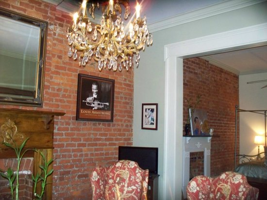 The New Orleans Jazz Quarters:                   Sitting Area with Bedroom in the back