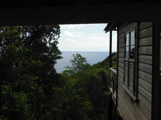 Jungle Bay, Dominica:                   View From Shower (don't worry, it's totally private)