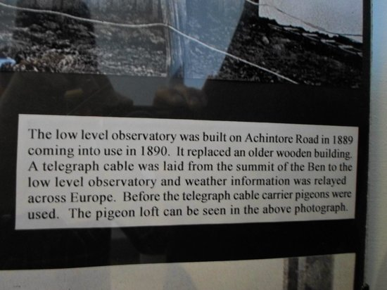 Glentower Lower Observatory Guesthouse:                   Description of the observatory in the West Highland Museum