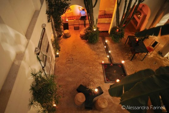 Riad O2: il cortile interno