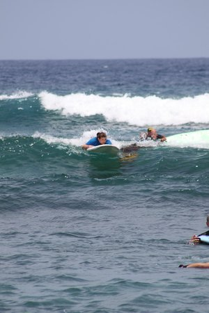 Surfing with Hawaii Lifeguard Surf instructors