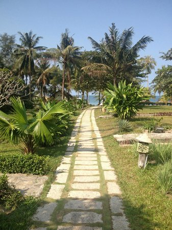 Mai House Resort:                   The path to the beach.