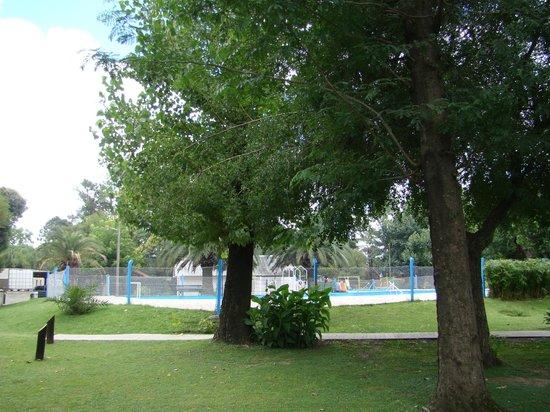 Los Platanos, Cabanas y Suites: parque y pileta