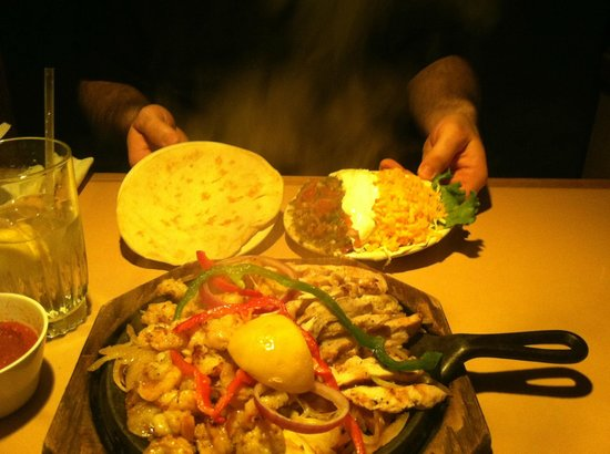 Fajitas a Sizzlin Celebration:                   Awesome meal for two!