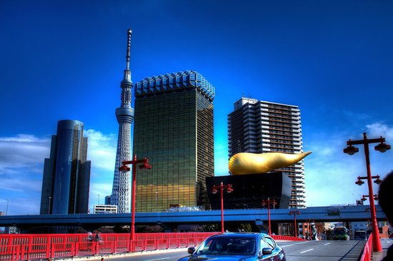 Asakusa Central Hotel:                                     View from the street corner outside the hotel.