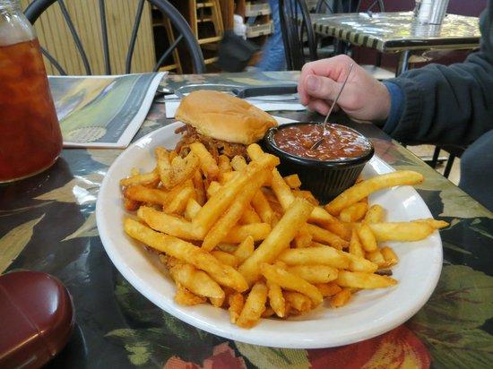 BBQ Pork and fries Picture of Farmhouse Restaurant Branson TripAdvisor